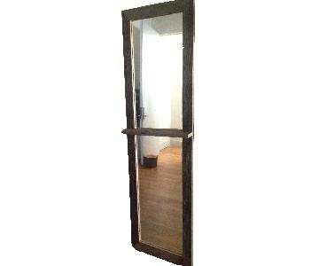 Reclaimed Rustic Wood Floor Entryway Mirror
