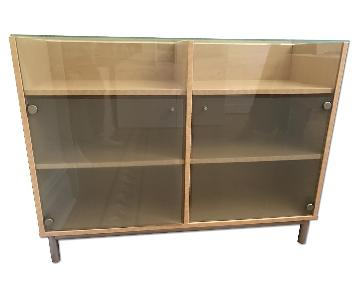 Ikea Modern Glass Sideboard