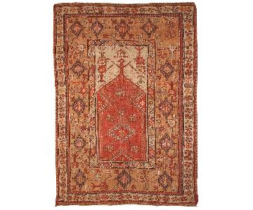 Antique 1870s Turkish Melas Rug