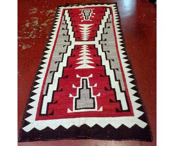 Antique 1880s Native American Navajo Rug