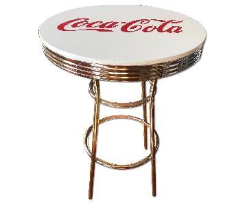 Vintage Soda Shop Chrome Bar Table