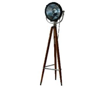 Crouse Hinds Vintage Industrial Floor Lamp/Spotlight