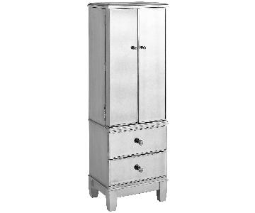 Pier 1 Hayworth Mirrored Jewelry Armoire in Silver