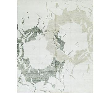 Bamboo Collection Rug in White/Grey