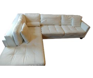 Tosh Furniture White Sectional Sofa