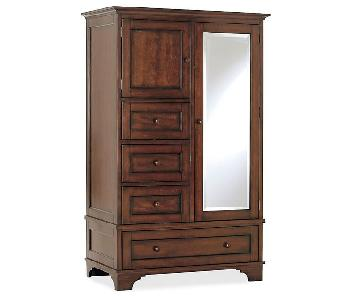 Pottery Barn Mirrored Armoire