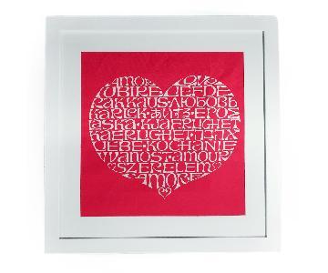 Framed Alexander Girard International Love Heart