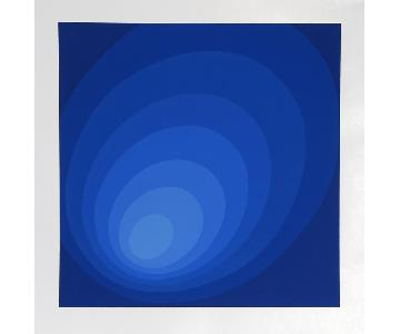 Leonid Untitled Blue Ombre Silkscreen