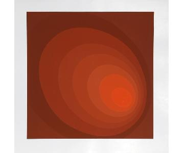 Leonid Untitled Red Ombre Silkscreen