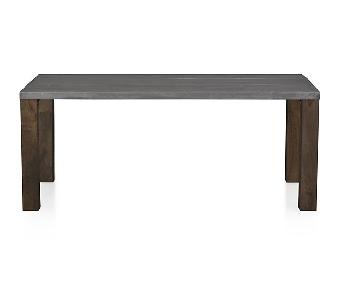 Crate & Barrel Galvin Dining Table