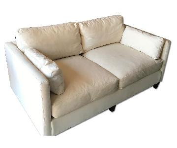All Modern Caroline Cream Canvas Sofa