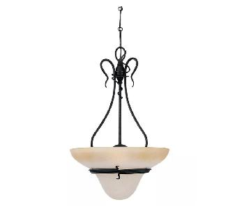Sea Gull Lighting Saranac Lake Forged Iron 3 Light Pendant