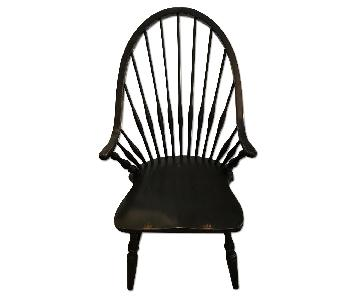 Restoration Hardware Painted Black Windsor Chairs