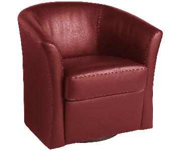 Pier 1 Isaac Collection Red Swivel Chair