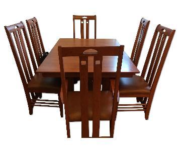 Custom Made Dining Room Table w/ 6 Chairs