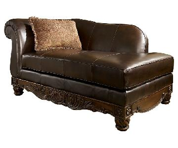Ashley's North Shore Furniture Leather Chaise