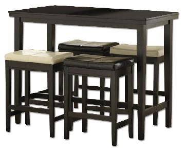 Ashley's Kimonte Counter Height 5 Piece Dining Set
