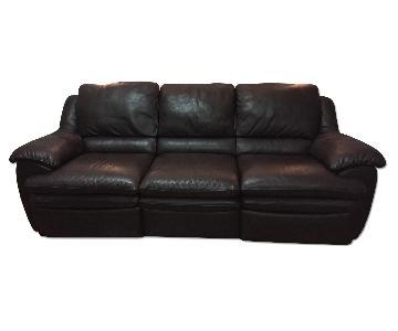 Raymour & Flanigan Natuzzi Italia Leather Reclining Sofa