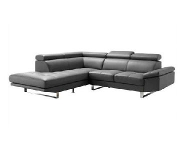 Moe's Home Collection Faux Leather Sectional