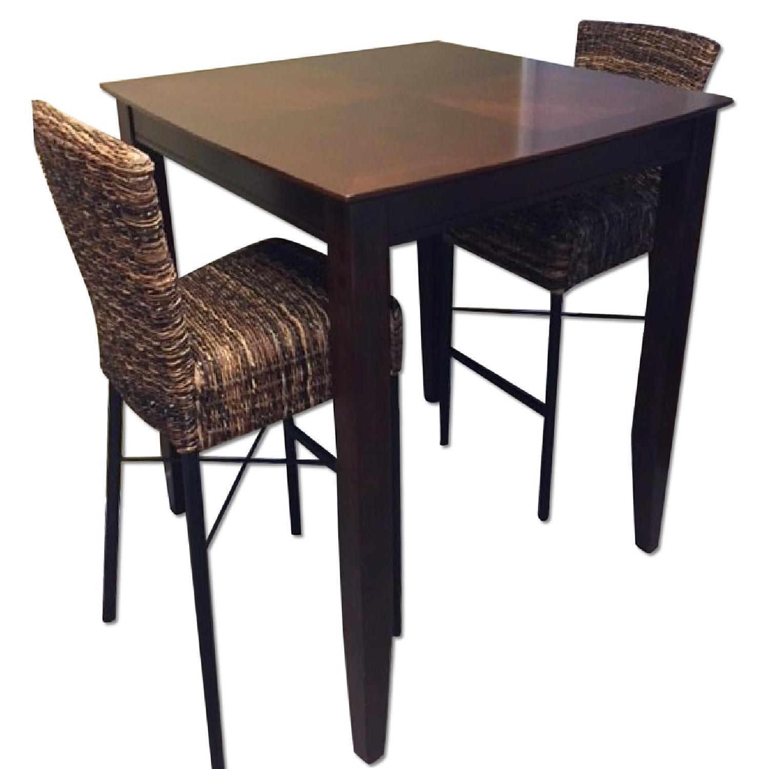 counter height square 3 piece dining set