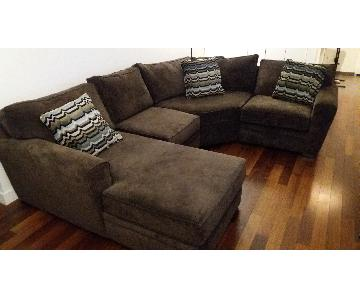 Jonathan Louis Furniture Artemis II 4 Piece Microfiber Secti