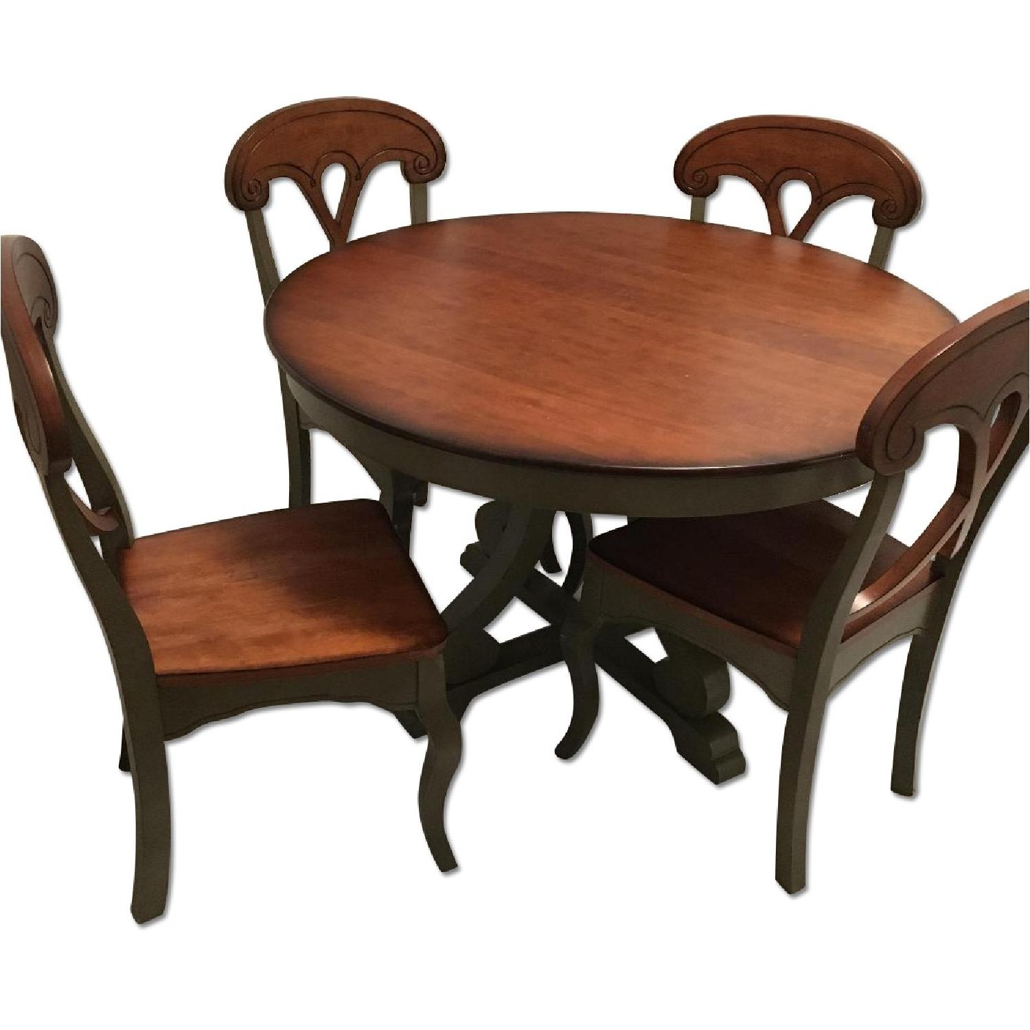 Pier 1 Marchella Sage Round 5 Piece Dining Set ...