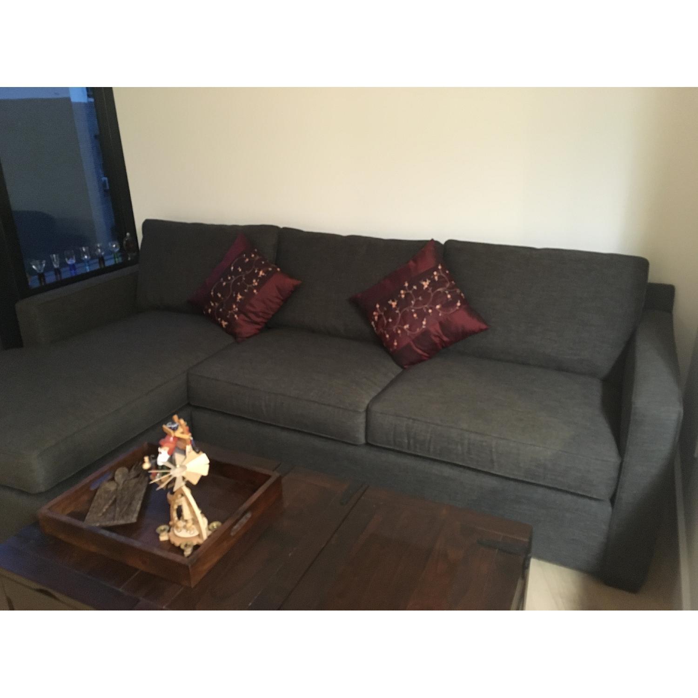 Crate & Barrel Sectional Sofa - AptDeco