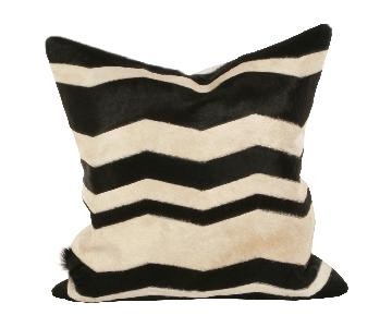 Lillian August Chevron/Cowhide Modern Decorative Pillows