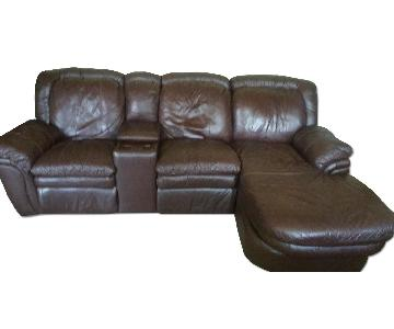 Bobs Faux Leather 3 Piece Sectional Sofa
