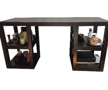West Elm Dark Brown Wood Console