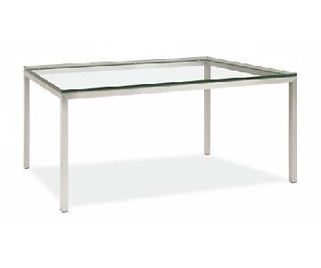 Room & Board Glass Table w/ Metal Frame