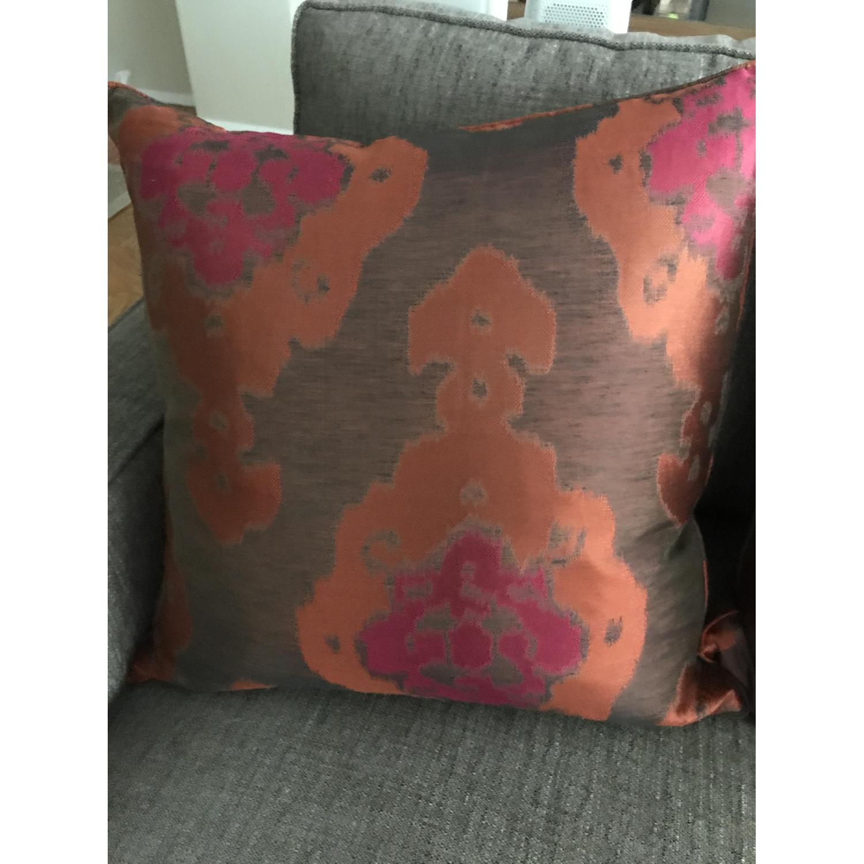 Lillian August Brown Multi Ikat Decorative Pillows - image-1