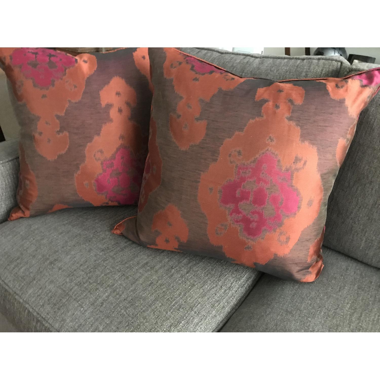Lillian August Brown Multi Ikat Decorative Pillows - image-2