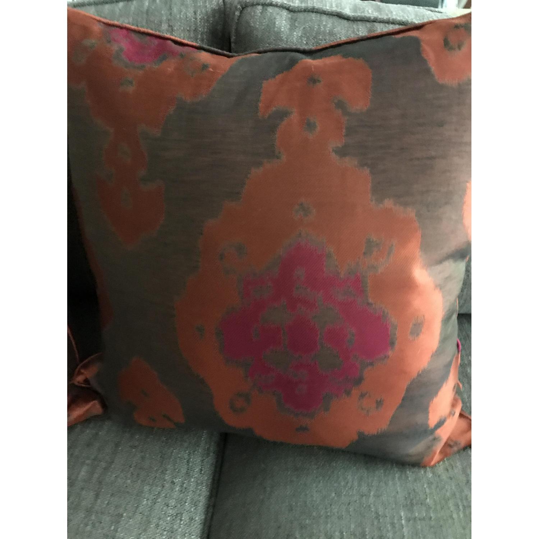 Lillian August Brown Multi Ikat Decorative Pillows - image-4
