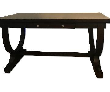 Artistica Large Dark wood Desk/Entryway Table w/ Anthropolog