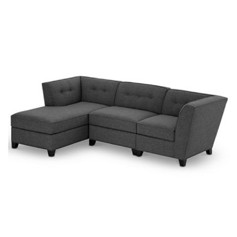Macyu0027s Harper Fabric 3 Piece Modular Chaise Sectional Sofa