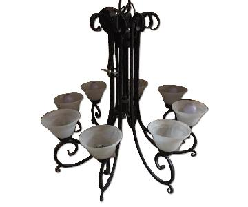 Kalco Cast Iron Incandecent Luminaire/Chandelier