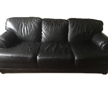 Katz Furniture 3 Seater Leather Sleeper Sofa