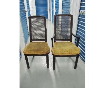 Henredon Chinoiserie Mahogony & Cane Dining Chairs