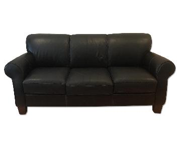 Raymour & Flanigan Leather Couch