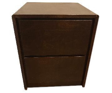 Gothic Cabinet Craft Dark Wood Nightstand