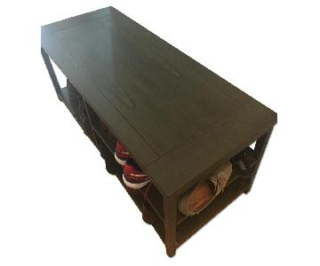 Crate & Barrel Wood Coffee Table