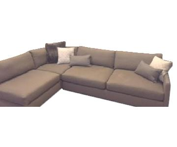 Crate & Barrel Domino Sectional in Dove Gray