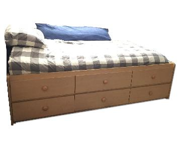 Twin Size Bed w/ Storage Drawers