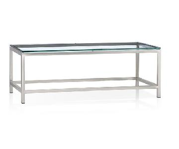 Crate & Barrel Glass Coffee Table