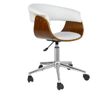 Porthos Home Antique Revival Liam Office Chair in White