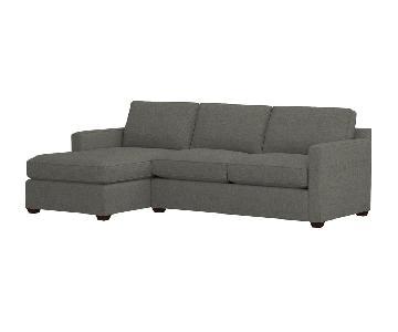 Crate & Barrel Davis 2-Piece Left Arm Chaise Sectional Sofa
