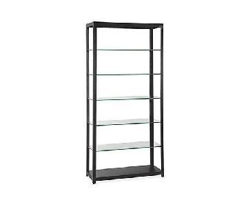 Room & Board Burton Glass & Steel Bookcase