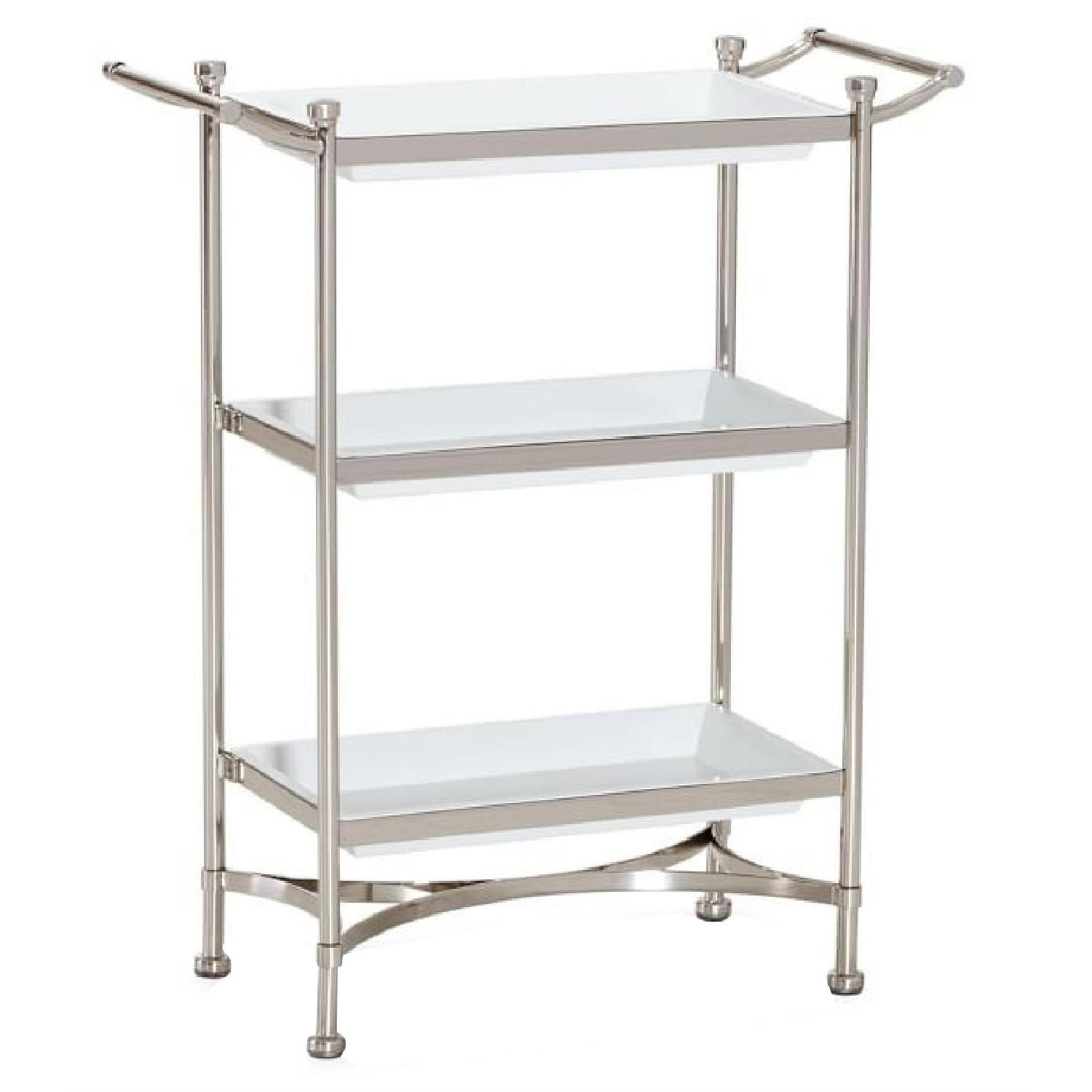 Pottery Barn Bathroom Storage Shelving Unit Aptdeco