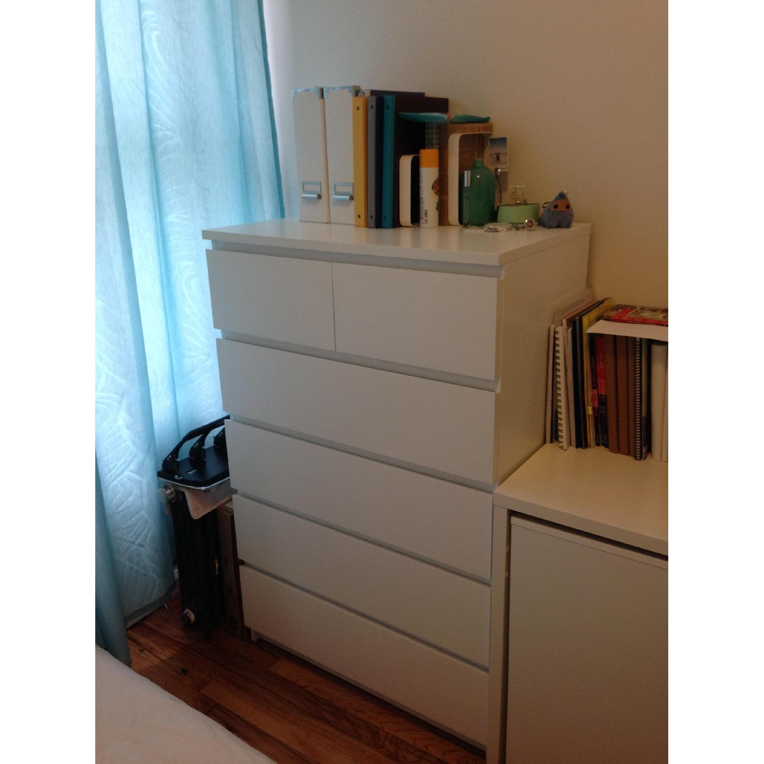 Aptdeco used ikea malm 6 drawer chest for sale in nyc for Malm kommode weiay